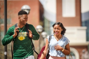 Norfolk State University student enjoy a beautiful spring day on their campus on Monday, April 6, 2015. (Photo/SEMWorks)