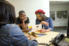 Norfolk State University students visit the student services center on Tuesday, April 7, 2015. (Photo/SEMWorks)