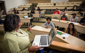 NSU's Associate Professor Aurelia T. Williams, leads her Computer Science class on Tuesday, October 25, 2016. (Chris English/Tigermoth Creative)